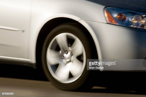 Car Wheel, Blurred Motion