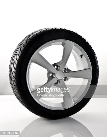 car wheel with tyre