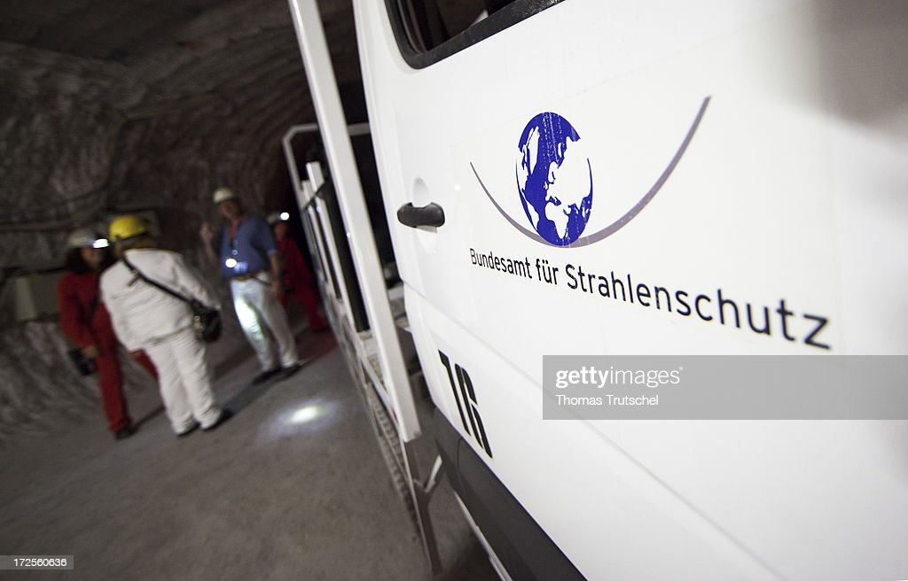 A Car with the Logo of the federal office for radiation protection (Bundesamt fuer Strahlenschutz) is pictured in a tunnel in Gorleben Mine on July 3, 2013 in Gorleben, Germany. The German Bundestag has agreed on June 28, 2013 to allow a commission of experts to launch a search for a new nuclear waste disposal site. The law ends radioactive transports to the controversial site in Gorleben for the time being. Under the terms of the measure, the government will commission a group of 30 experts to oversee the search. The panel, comprised of members of parliament, scientists and representatives from various interest groups, must present a list of criteria for the search by 2015. It must convene publicly before approving stipulations for the selection process.