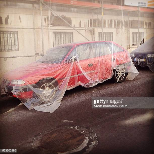 Car Wrapped In Foil