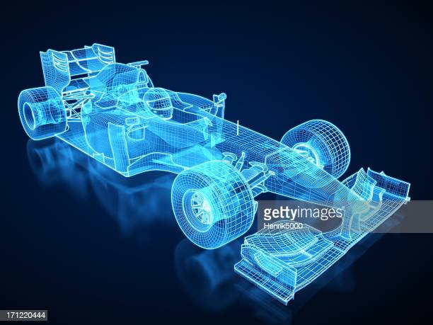 F1 Car X-ray / Blueprint - with clipping path