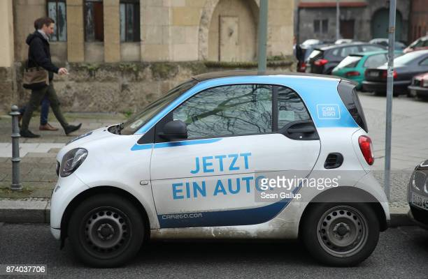 Car2Go car stands parked in the city center on November 14 2017 in Berlin Germany A number of companies have plunged into the market for sharing...
