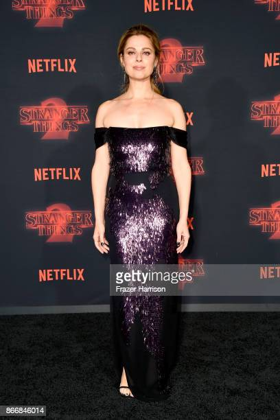 Cara Buono attends the premiere of Netflix's 'Stranger Things' Season 2 at Regency Bruin Theatre on October 26 2017 in Los Angeles California