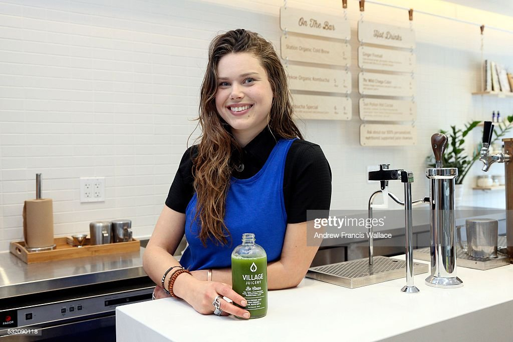 TORONTO ON MAY 5 Cara Cupola owner of the The Village Juicery at 2409 Yonge St Toronto May 5 2016 For weekly newbusiness profile Now Open