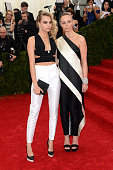 Cara Delevigne and Stella McCartney attend the 'Charles James Beyond Fashion' Costume Institute Gala at the Metropolitan Museum of Art on May 5 2014...