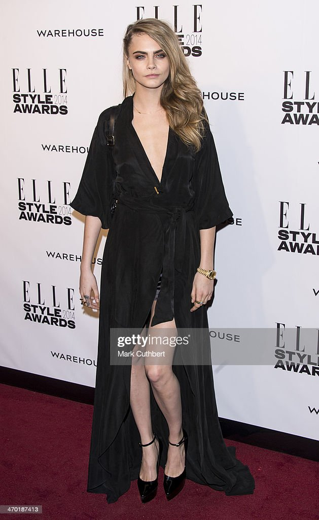 Cara Delevigne attends the Elle Style Awards 2014 at one Embankment on February 18, 2014 in London, England.
