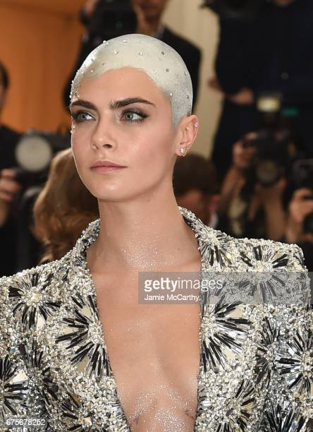 Cara Delevigne attends the 'Rei Kawakubo/Comme des Garcons Art Of The InBetween' Costume Institute Gala at Metropolitan Museum of Art on May 1 2017...