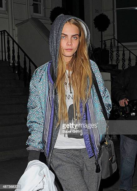 Cara Delevigne is seen on February 19 2013 in London United Kingdom