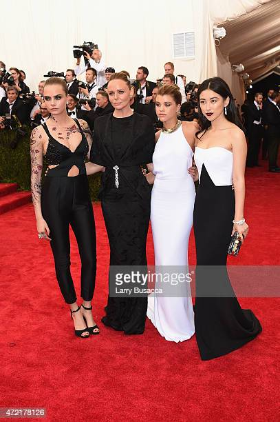 Cara Delevigne Stella McCartney Sofia Ritchie and Zhu Zhu attend the 'China Through The Looking Glass' Costume Institute Benefit Gala at the...