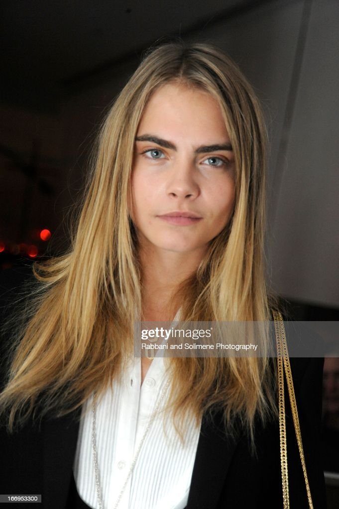 Cara Delevinge attends the Stefano Tonchi Celebrates W Magazine's Modern Beauty Issue Honoring Tilda Swinton at the Perry Street Restaurant on April 18, 2013 in New York City.