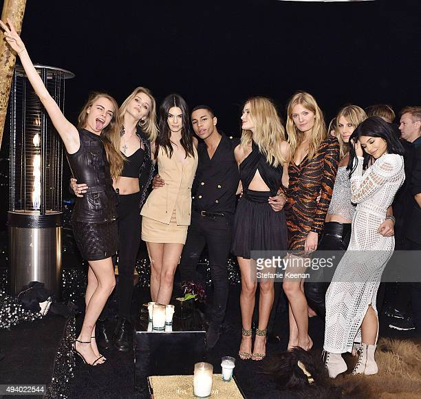 Cara Delevingne Abbey Lee Kershaw Kendall Jenner Olivier Rousteing Rosie HuntingtonWhiteley Constance Jablonski Angela Lindvall and Kylie Jenner...