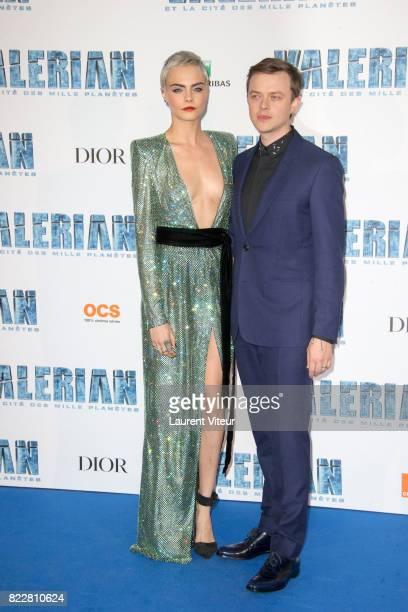 Cara Delevingne and Dane DeHaan attend 'Valerian et la Cite desMille Planetes' Paris Premiere at La Cite Du Cinema on July 25 2017 in SaintDenis...