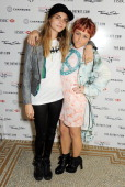 Cara Delevingne and Jaime Winstone attend the Marie Claire 25th birthday celebration featuring Icons of Our Time in association with The Outnet at...