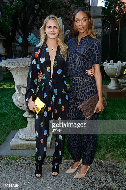 Cara Delevingne and Jourdan Dunn attend the Stella McCartney Spring 2015 Presentation at Elizabeth Street Gardens on June 5 2014 in New York City