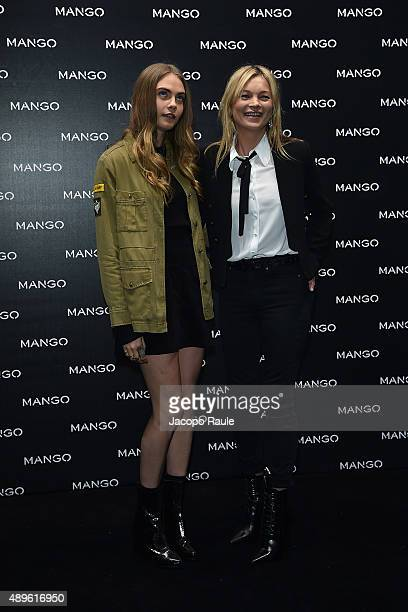 Cara Delevingne and Kate Moss attend the Mango boutique opening during the Milan Fashion Week Spring/Summer 2016 on September 23 2015 in Milan Italy