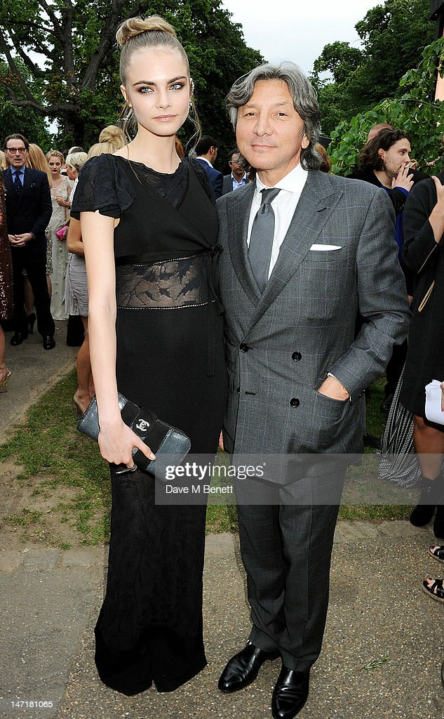 Cara Delevingne (L) and Leon Max attend The Serpentine Gallery Summer Party sponsored by Leon Max at The Serpentine Gallery on June 26, 2012 in London, England.