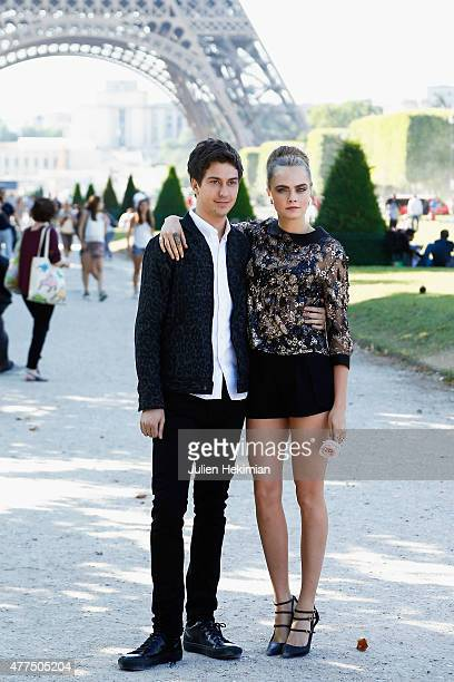 Cara Delevingne and Nat Wolff attend 'Paper Towns' La Face Cachee De Margo Photocall on June 17 2015 in Paris France