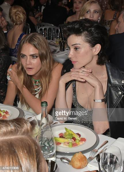Cara Delevingne and St Vincent attends the de Grisogono 'Divine In Cannes' party at Hotel du CapEdenRoc on May 19 2015 in Cap d'Antibes France