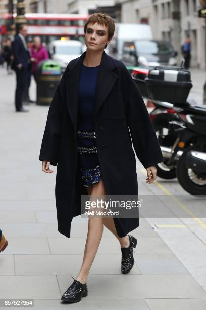 Cara Delevingne arriving at Waterstones Piccadilly for her 'Mirror Mirror' book signing on October 5 2017 in London England