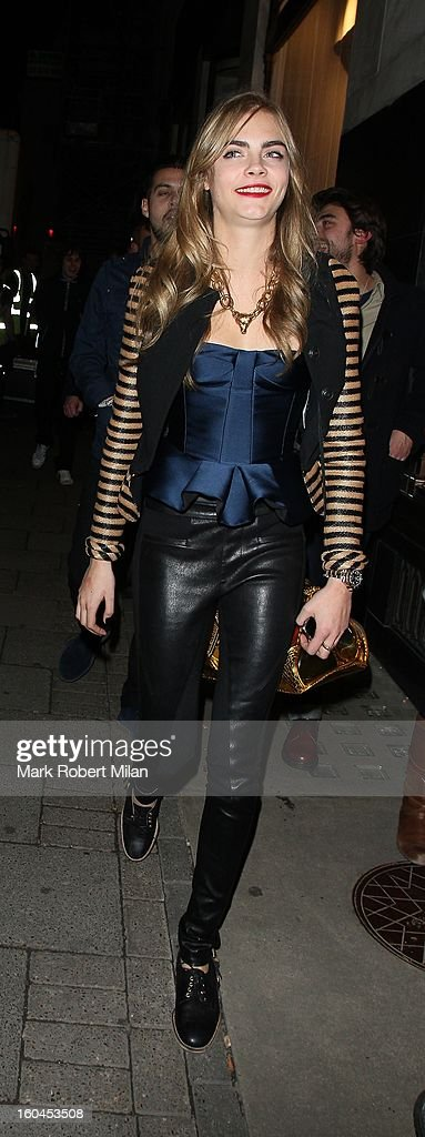 Cara Delevingne at Burberry Regent Street on January 31, 2013 in London, England.