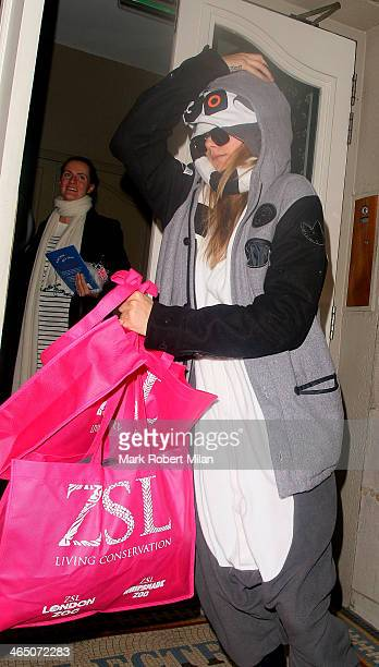 Cara Delevingne at The Electric House for Chloe Delevingne's Hen party on January 25 2014 in London England