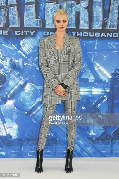 Cara Delevingne attends a photocall for 'Valerian And The City Of A Thousand Planets' at The Langham Hotel on July 24 2017 in London England