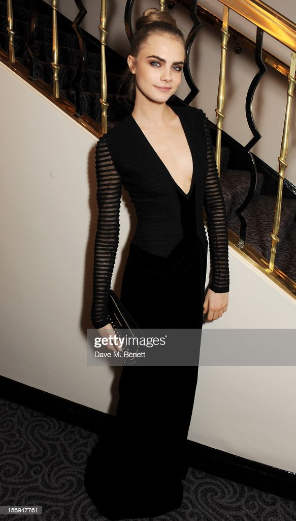 Cara Delevingne attends an after party following the 58th London Evening Standard Theatre Awards in association with Burberry at The Savoy Hotel on November 25, 2012 in London, England.