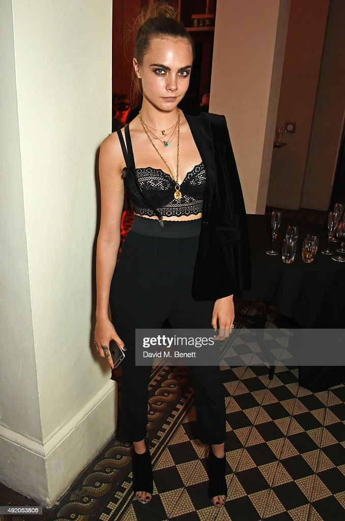 <a gi-track='captionPersonalityLinkClicked' href=/galleries/search?phrase=Cara+Delevingne&family=editorial&specificpeople=5488432 ng-click='$event.stopPropagation()'>Cara Delevingne</a> attends Eva Cavalli's birthday party at One Mayfair on October 9, 2015 in London, England.