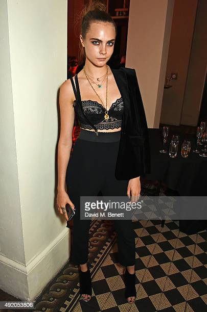Cara Delevingne attends Eva Cavalli's birthday party at One Mayfair on October 9 2015 in London England