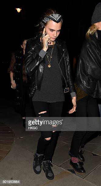 Cara Delevingne attends Love Magazine's Christmas party at George restaurant on December 18 2015 in London England