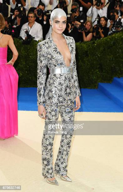 Cara Delevingne attends 'Rei Kawakubo/Comme des Garcons Art Of The InBetween' Costume Institute Gala at Metropolitan Museum of Art on May 1 2017 in...