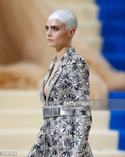 Cara Delevingne attends 'Rei Kawakubo/Comme des Garcons Art Of The InBetween' Costume Institute Gala at The Metropolitan Museum of Art on May 1 2017...