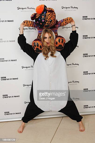 Cara Delevingne attends the BBC Children in Need Designer Pudsey Auction at Christies Auction House on November 15 2012 in London England