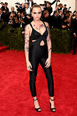 Cara Delevingne attends the 'China Through The Looking Glass' Costume Institute Benefit Gala at the Metropolitan Museum of Art on May 4 2015 in New...