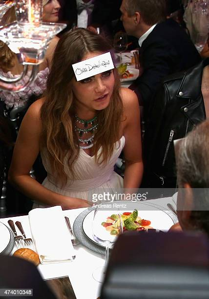 Cara Delevingne attends the De Grisogono party during the 68th annual Cannes Film Festival on May 19 2015 in Cap d'Antibes France