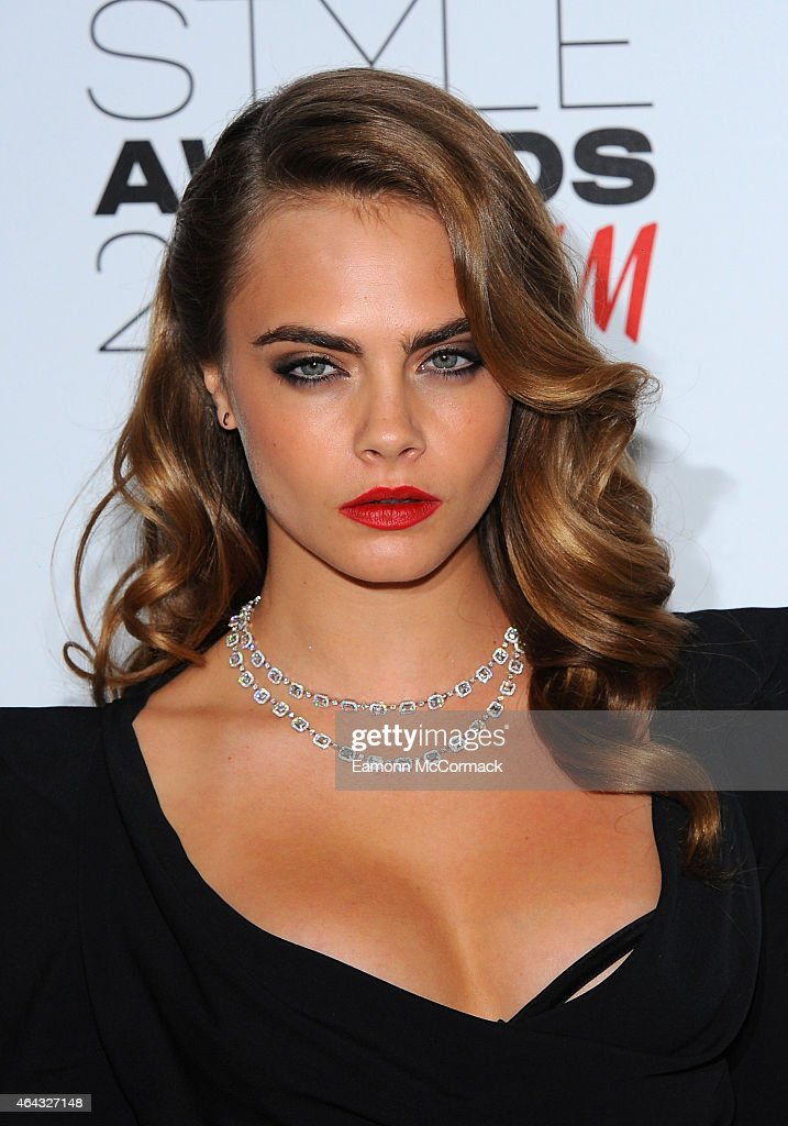 Cara Delevingne attends the Elle Style Awards 2015 at Sky Garden @ The Walkie Talkie Tower on February 24 2015 in London England