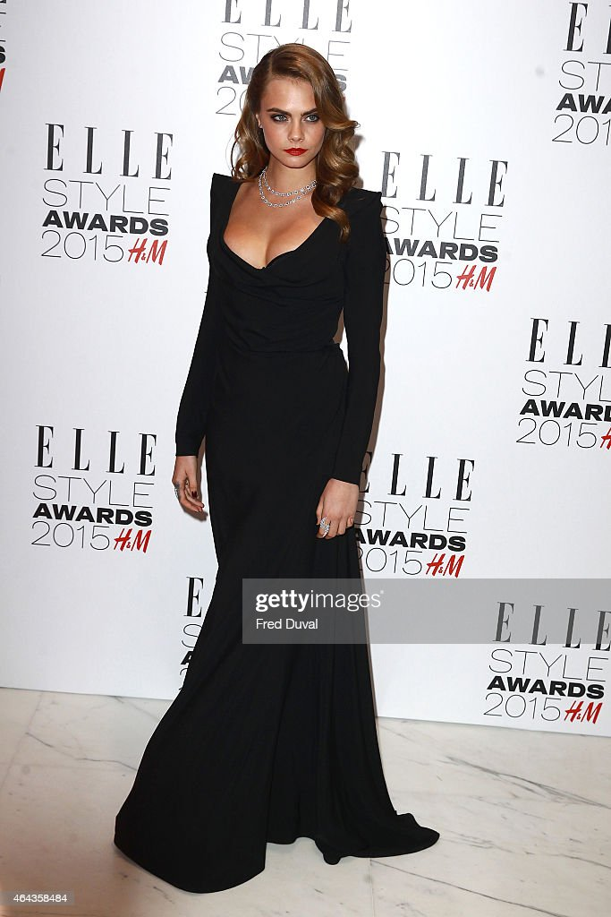 Cara Delevingne attends the ELLE Style Awards at Sky Garden 20 Fenchurch Street EC3M 3BY on February 24 2015 in London England