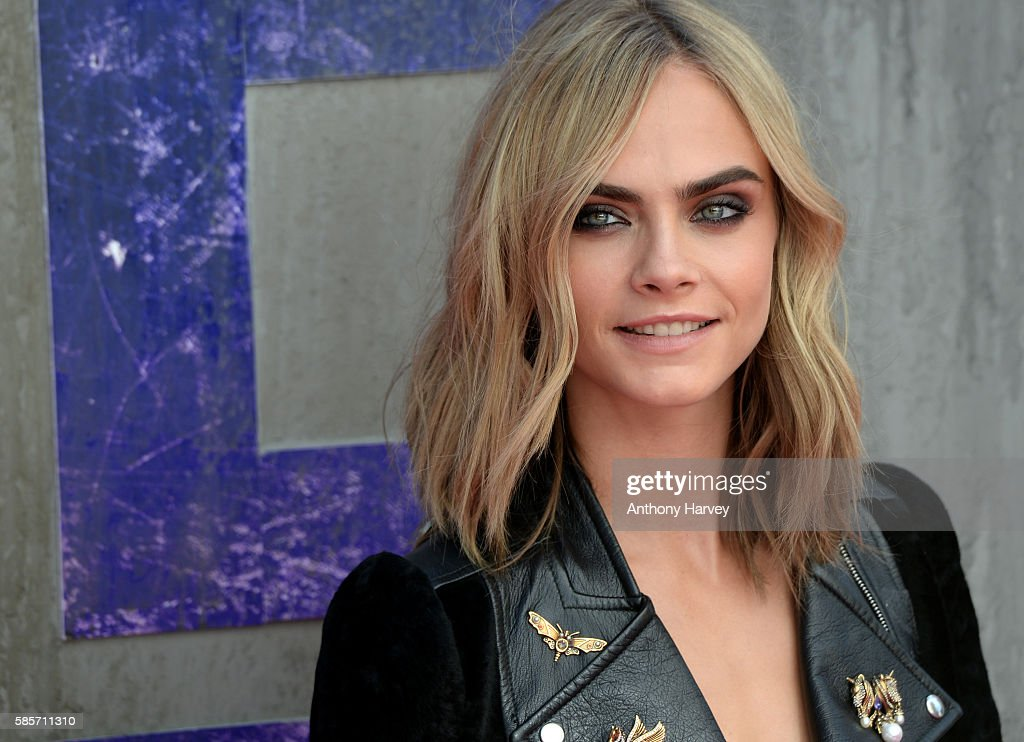 Cara Delevingne attends the European Premiere of 'Suicide Squad' at Odeon Leicester Square on August 3, 2016 in London, England.