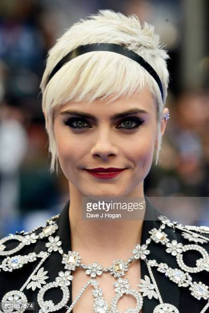 Cara Delevingne attends the European premiere of 'Valerian and The City of a Thousand Planets' at Cineworld London on July 24 2017 in London England