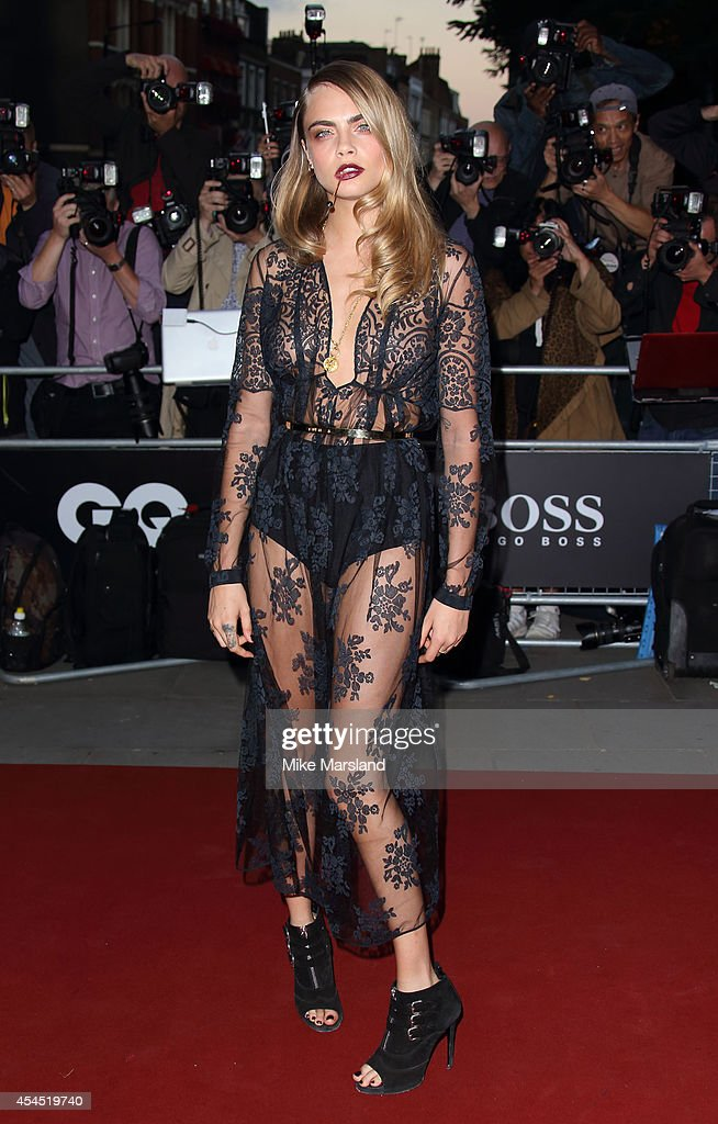 Cara Delevingne attends the GQ Men of the Year awards at The Royal Opera House on September 2, 2014 in London, England.