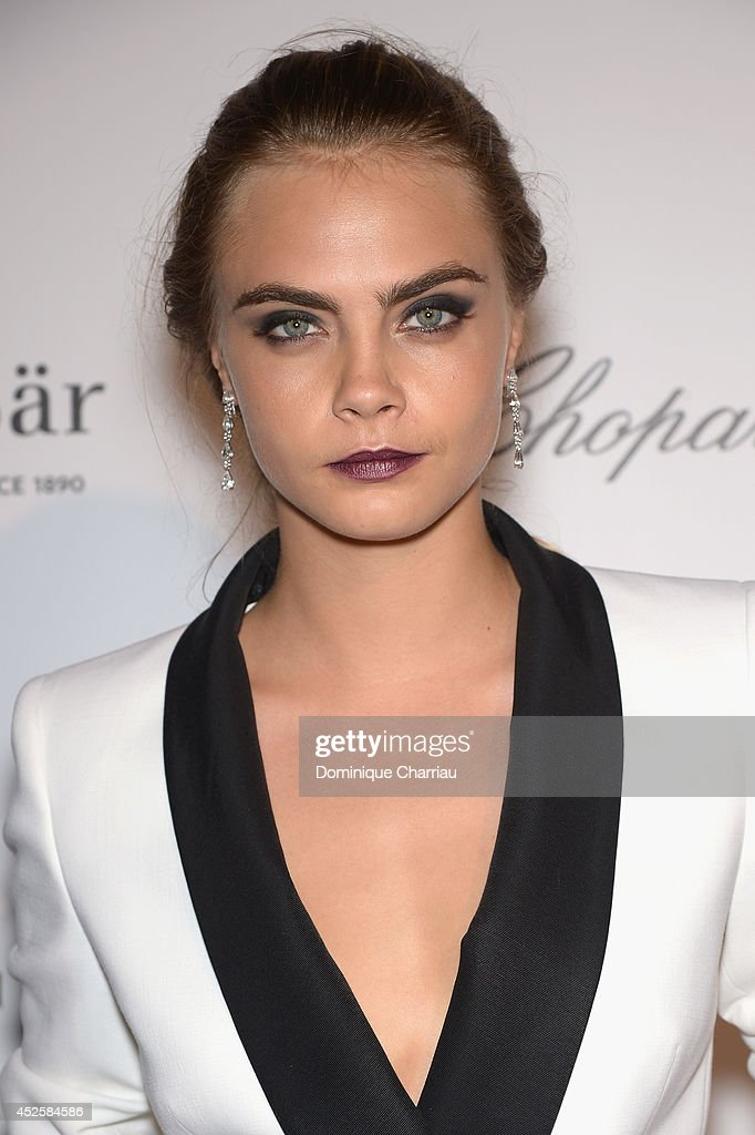 <a gi-track='captionPersonalityLinkClicked' href=/galleries/search?phrase=Cara+Delevingne&family=editorial&specificpeople=5488432 ng-click='$event.stopPropagation()'>Cara Delevingne</a> attends the Leonardo Dicaprio Gala at Domaine Bertaud Belieu on July 23, 2014 in Saint-Tropez, France.