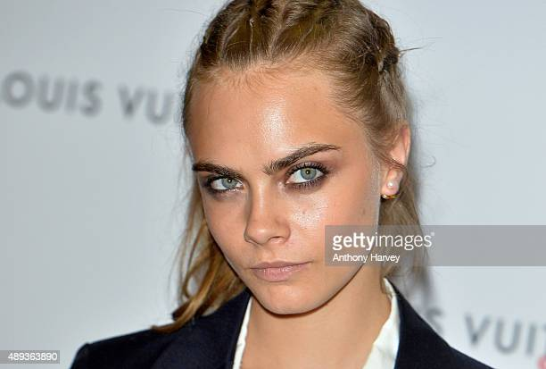 Cara Delevingne attends the Louis Vuitton Series 3 VIP Launch on September 20 2015 in London England