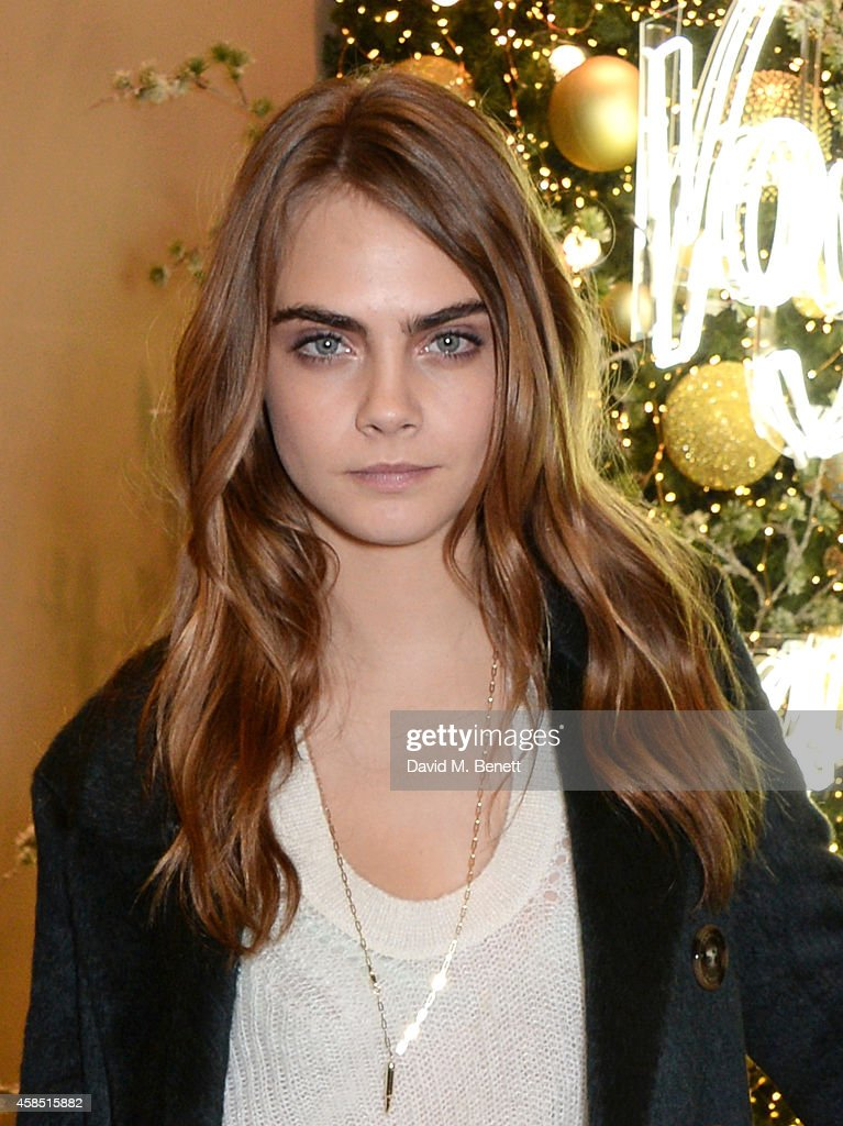 <a gi-track='captionPersonalityLinkClicked' href=/galleries/search?phrase=Cara+Delevingne&family=editorial&specificpeople=5488432 ng-click='$event.stopPropagation()'>Cara Delevingne</a> attends 'The Magical Christmas Journey By Burberry' Printemps Collaboration at Le Printemps on November 6, 2014 in Paris, France.