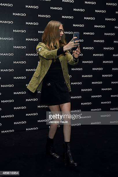 Cara Delevingne attends the Mango boutique opening during the Milan Fashion Week Spring/Summer 2016 on September 23 2015 in Milan Italy