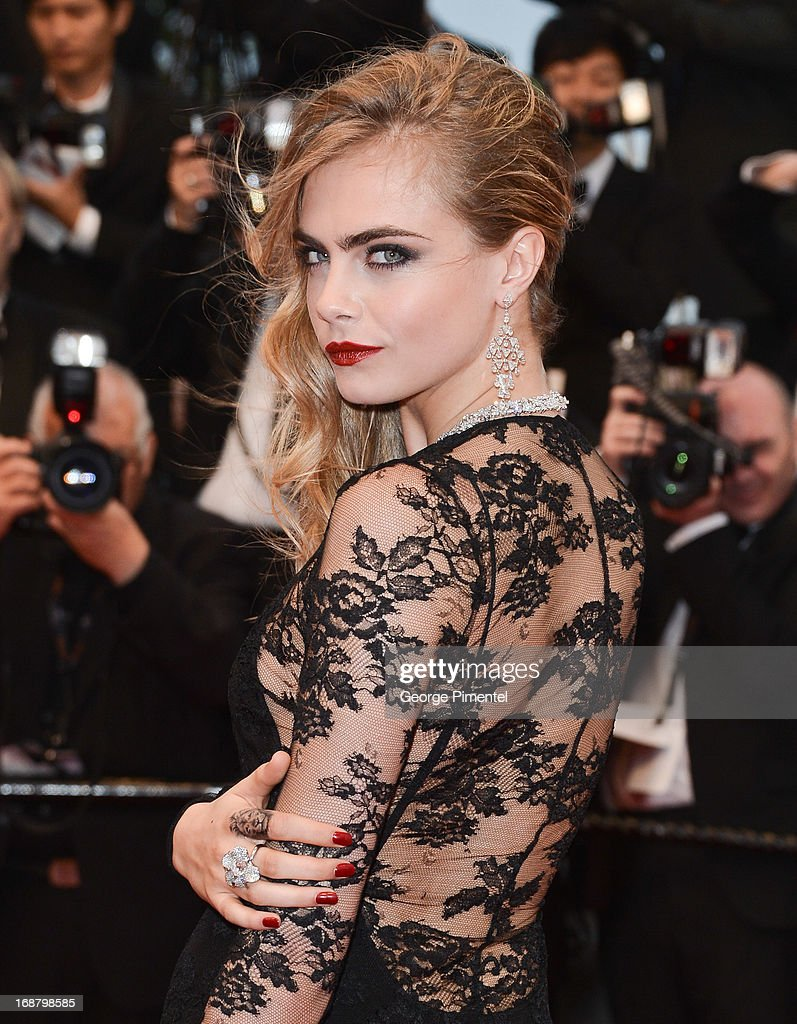 Cara Delevingne attends the Opening Ceremony and Premiere of 'The Great Gatsby' at The 66th Annual Cannes Film Festival at Palais des Festivals on May 15, 2013 in Cannes, France.