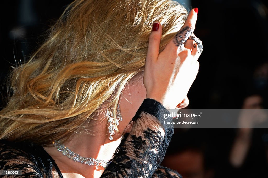 Cara Delevingne (tattoo detail) attends the Opening Ceremony and 'The Great Gatsby' Premiere during the 66th Annual Cannes Film Festival at the Theatre Lumiere on May 15, 2013 in Cannes, France.