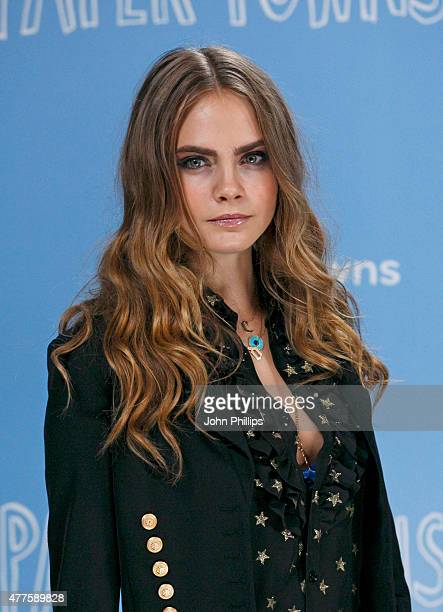 Cara Delevingne attends the 'Paper Towns' Photocall at Claridges Hotel on June 18 2015 in London England