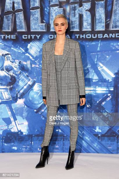 Cara Delevingne attends the photocall of 'Valerian and The City of a Thousand Planets' at The Langham Hotel on July 24 2017 in London England