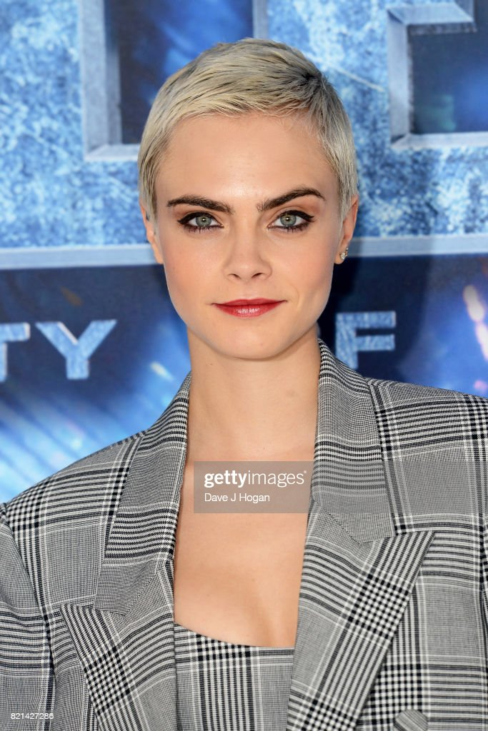 Cara Delevingne attends the photocall of 'Valerian and The City of a Thousand Planets' at The Langham Hotel on July 24, 2017 in London, England.