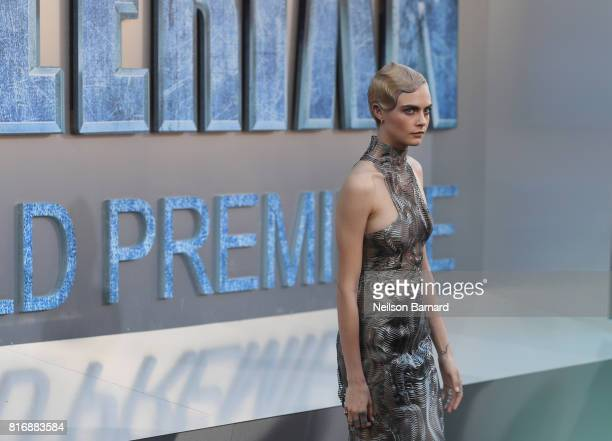 Cara Delevingne attends the premiere of EuropaCorp and STX Entertainment's 'Valerian and The City of a Thousand Planets' at TCL Chinese Theatre on...